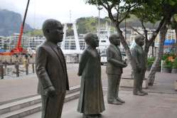 Waterfront statues, Cape Town, Afrique du Sud
