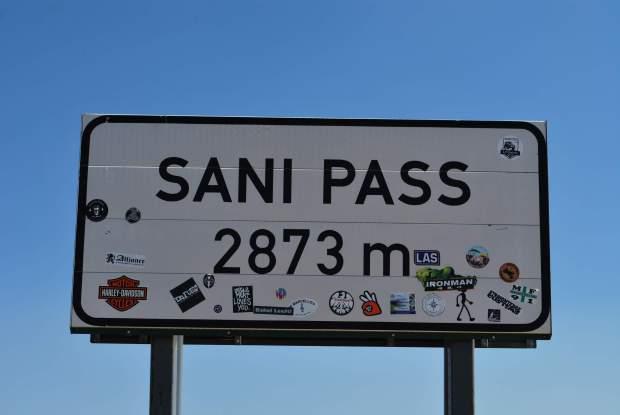Sani pass - Sign