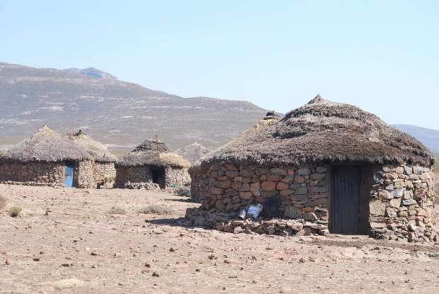 Lesotho - village