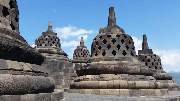 Stupas de Borodubur, Indonésie