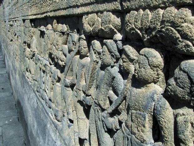 Sculptures, Borobudur, Indonésie