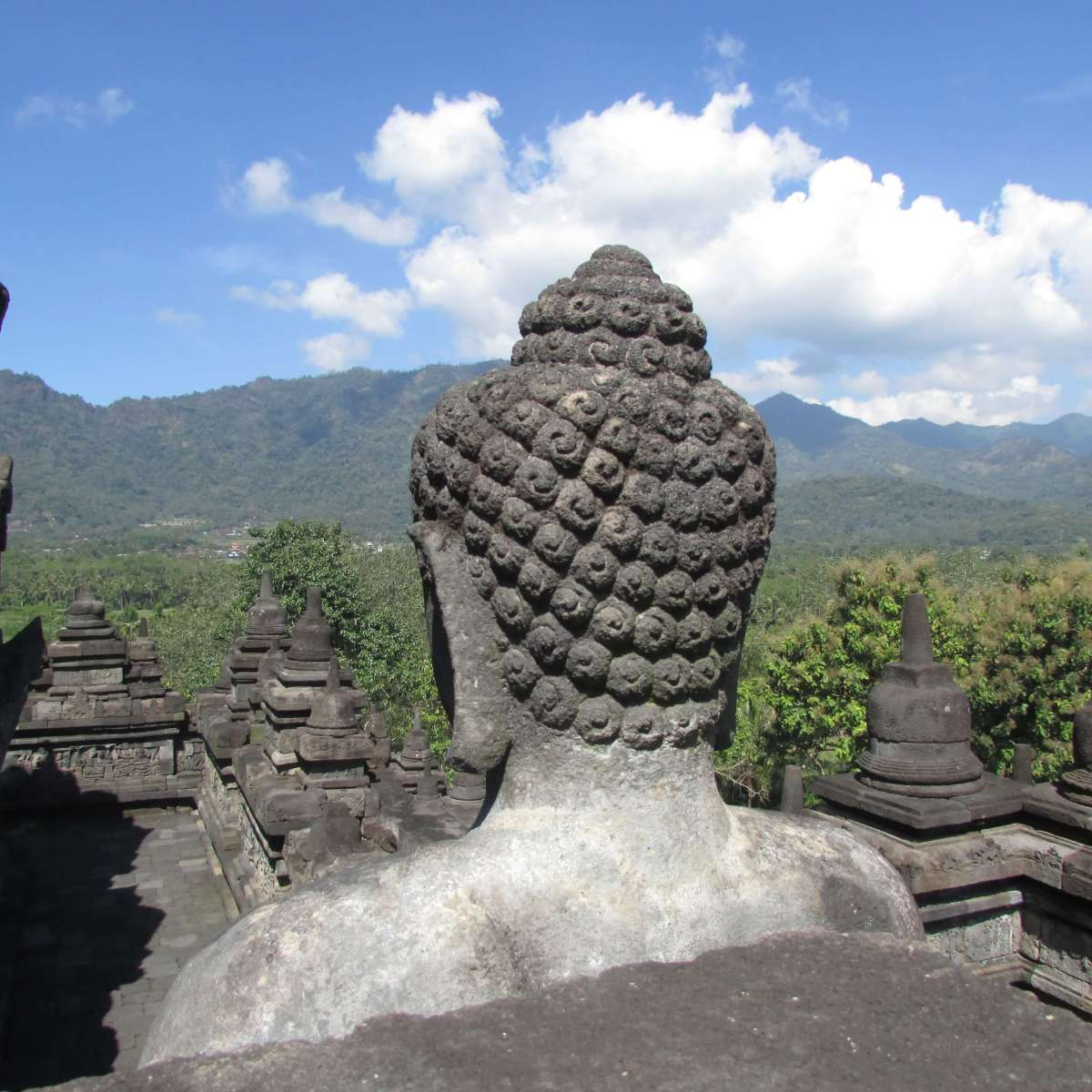 Tête de buddha, Borobodus, Indonésie