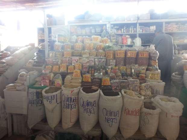 épices, Marché San Pedro, Cusco, Pérou