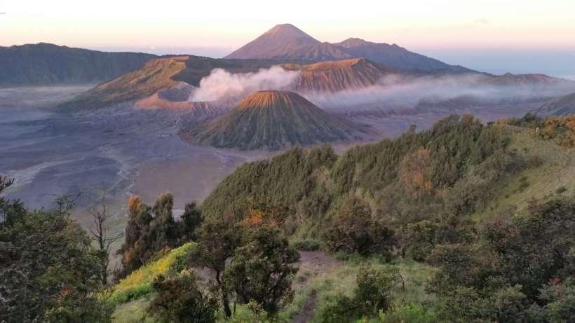 Lever du soleil, Mont Bromo, Indonésie