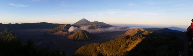 Panorama, Mont Bromo, Indonésie