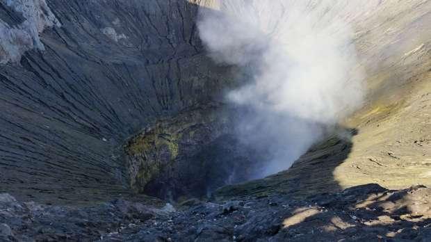 Cratère, Mont Bromo, Indonésie