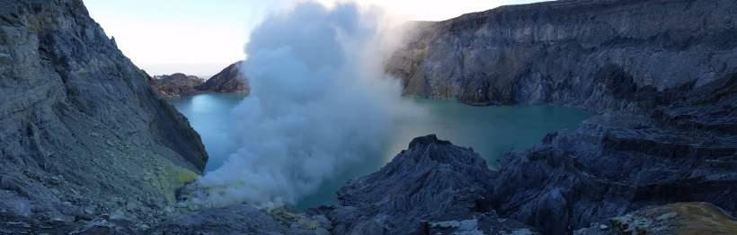 Panorama, Kawah Ijen, Indonésie