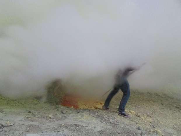 Fumée, Kawah Ijen, Indonésie