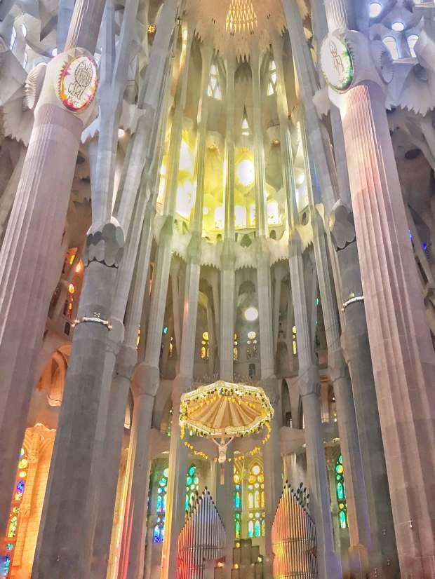 Intérieur de la Sagrada Familia, Barcelone