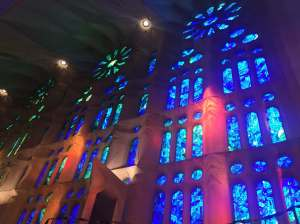 Vitraux Sagrada Familia, Barcelone, Espagne