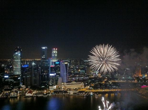 Feu d'artifice, Singapour