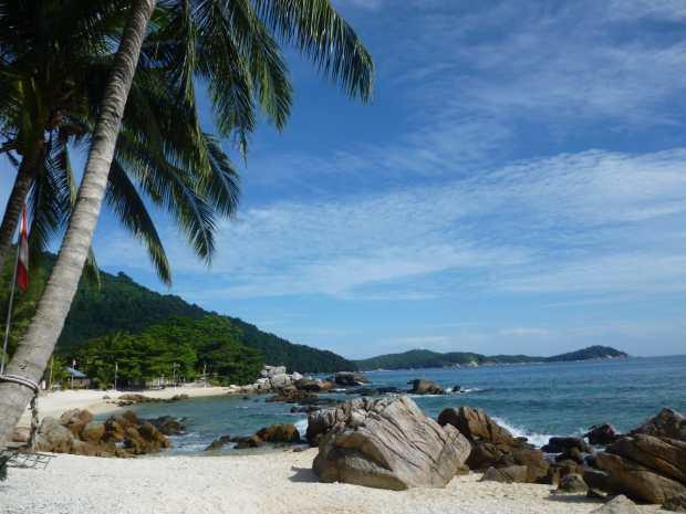 Plage de sable blanc, Perhentian, Malaisie