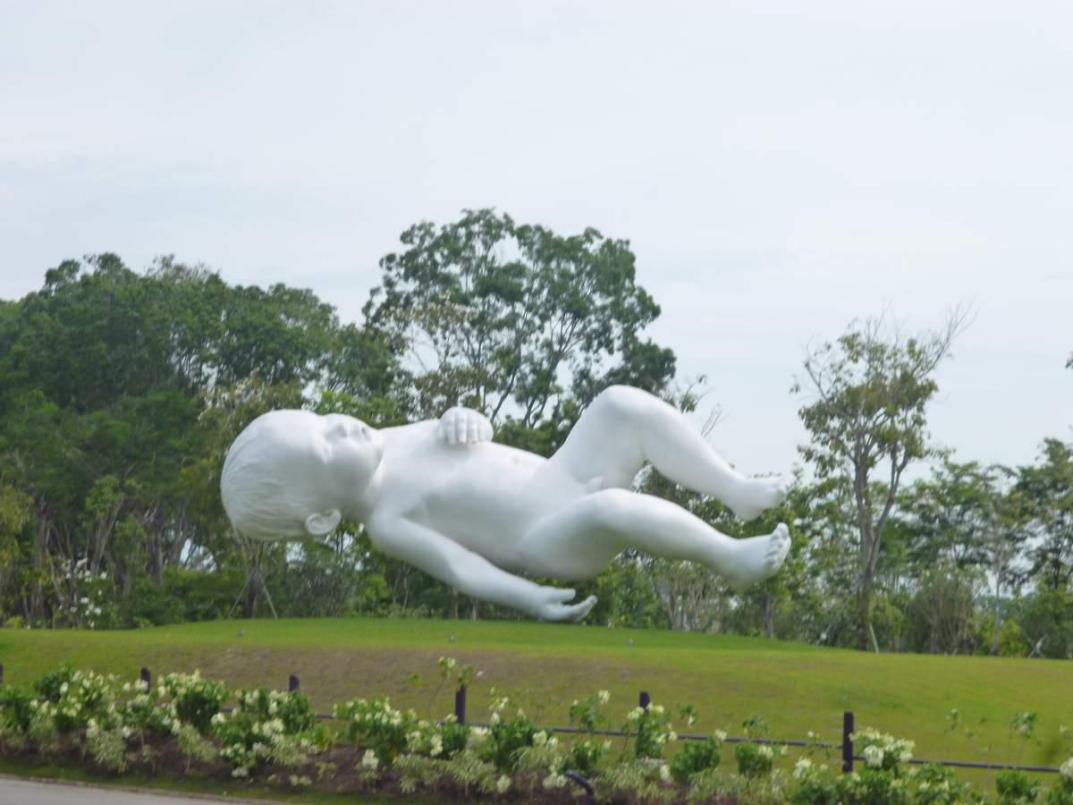 Statue de bébé, Gardens by the Bay, Singapour