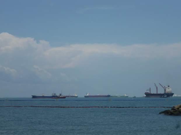 Porte conteneurs, Sentosa, Singapour