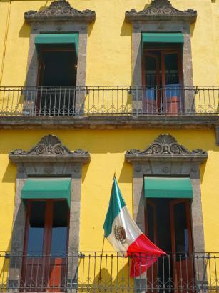 Façade colorée, Mexico City, Mexique