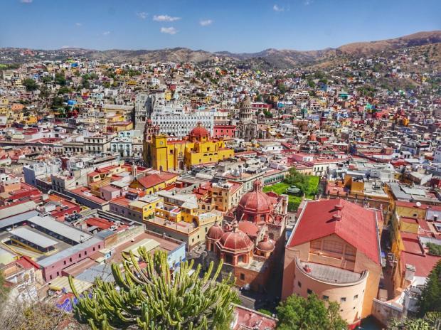 Vue sur Guanajuato, Mexique