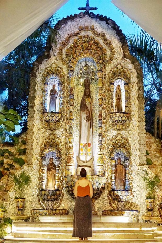 Autel dans une hacienda, Valladolid, Mexique