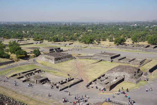Ruines, Teotihuacan, Mexique