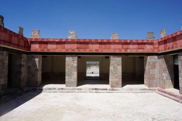Palais restauré, Teotihuacan, Mexique