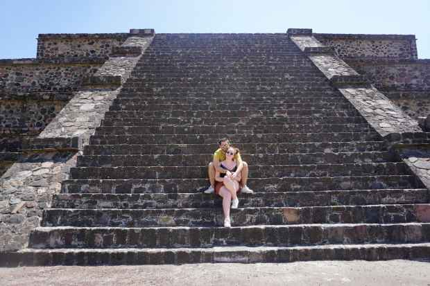 Marches, Teotihuacan, Mexique