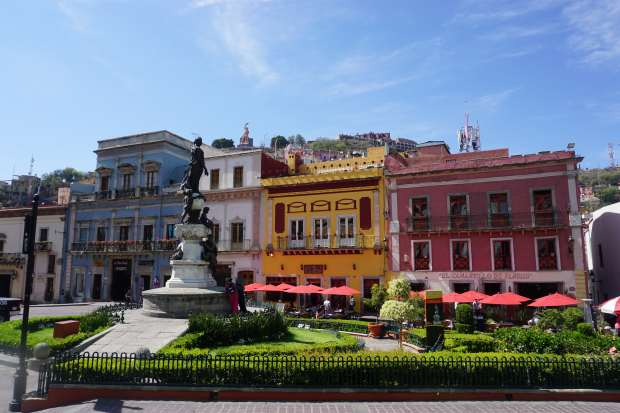 Place colorée, Guanajuato, Mexique