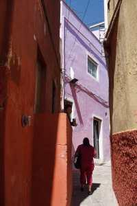 Ruelle rouge, Guanajuato, Mexique
