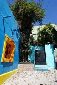 Ruelle bleue, Guanajuato, Mexique