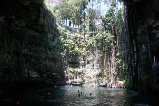 Intérieur du Cenote Ik Kil, Mexique