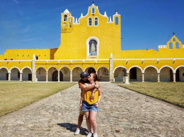 Visite du Couvent d'Izamal, Mexique