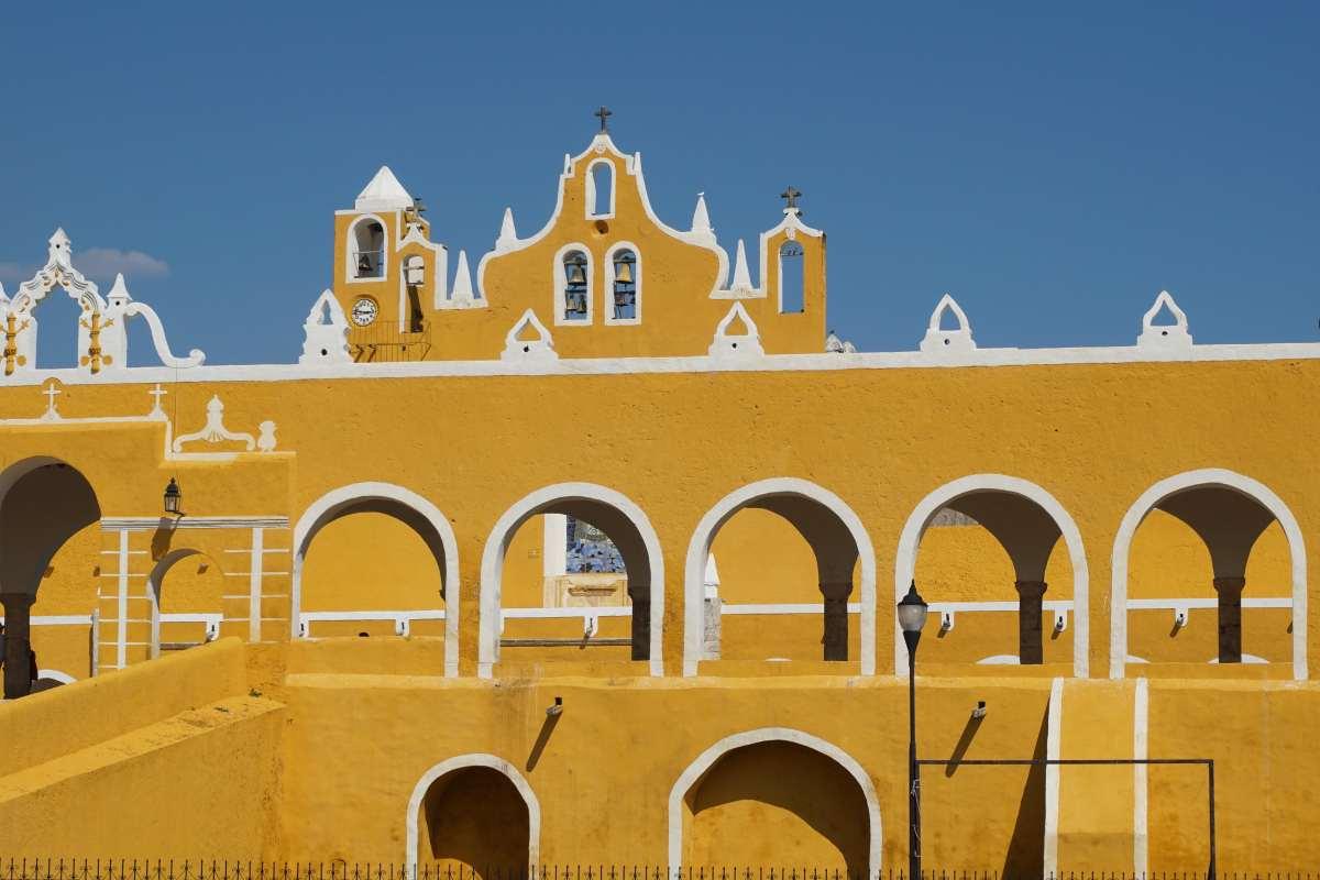 Le couvent jaune d'Izamal, Mexique