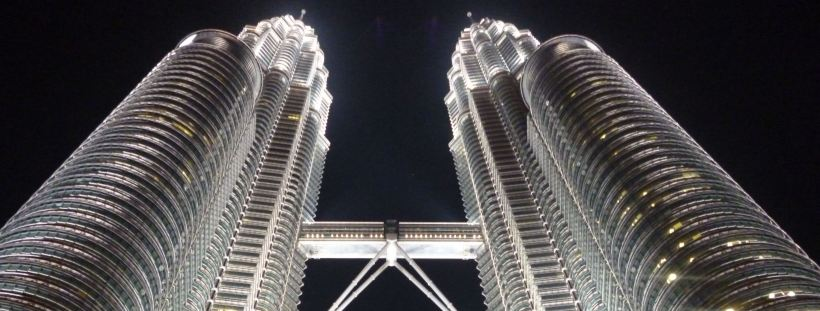 Petronas Towers by Night, Kuala Lumpur, Malaysia