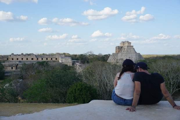 Vue sur le site d'Uxmal, Mexique