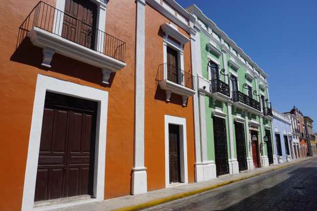 Street colors of Campeche, Mexique