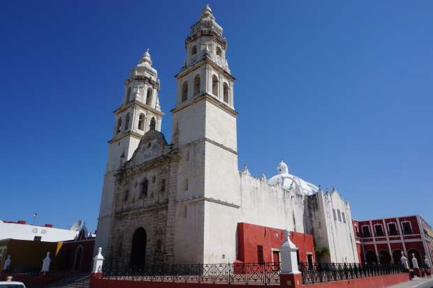 Eglise, Campeche, Mexique