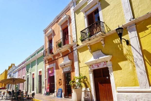 Façades colorées, Campeche, Mexique