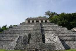 Pyramide, Palenque, Mexique