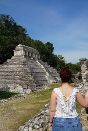 Visite des ruines de Palenque, Mexique