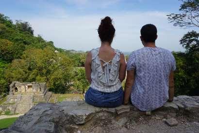 Vue sur les ruines de Palenque, Mexique