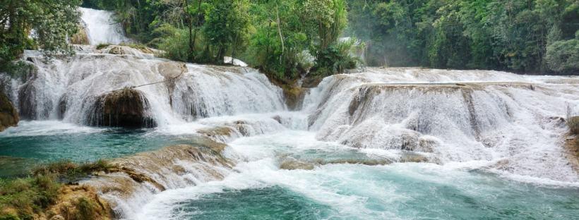 Cascades Agua Azul, Mexique