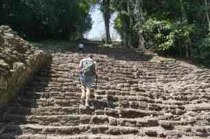 Old stairs, Yaxchilan, Mexico