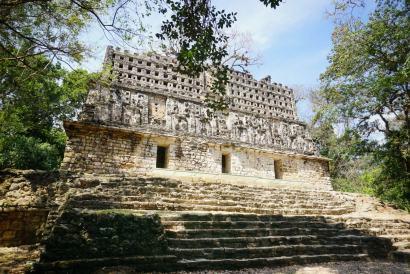 Edifice avec fresques, Yaxchilan, Mexique