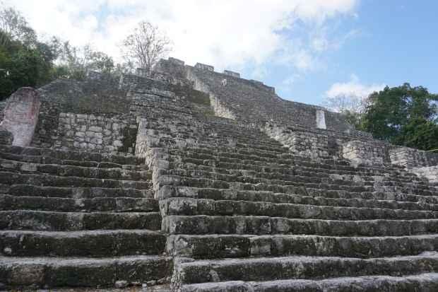 Pyramide, Calakmul, Mexique