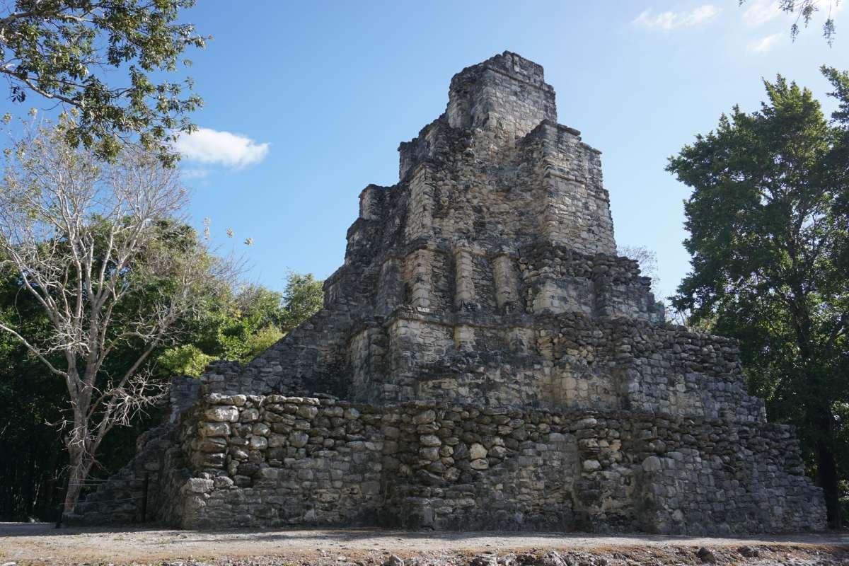Temple de Muyil, Mexique