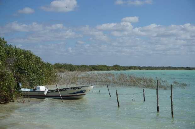 Départ des bateaux, Sian Ka'an, Mexique