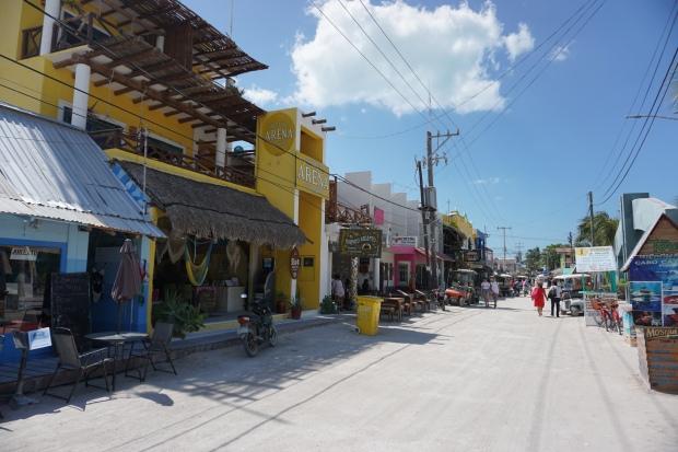 Centre ville, Holbox, Mexique