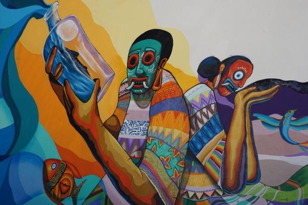 Peinture, Holbox, Mexique