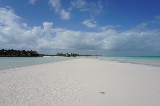 Plage de sable blanc, Holbox, Mexique
