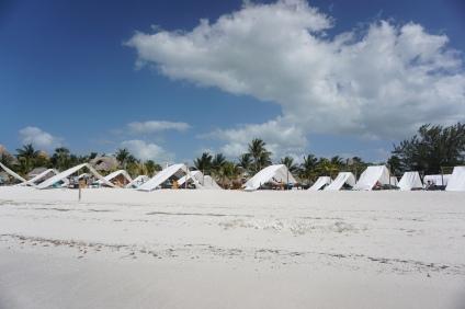 Beach club, Holbox, Mexique