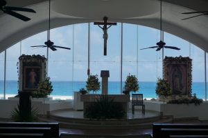 Eglise intérieur, Isla mujeres, Mexique