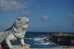Statue Iguane, Isla mujeres, Mexique